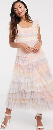 Needle & Thread tiered ruffle midi dress in multi