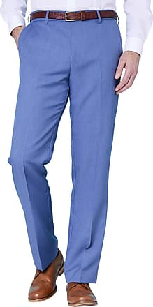 Farah Mens Flex Trouser Pants with Self-Adjusting Waistband Airforce 46W / 33L