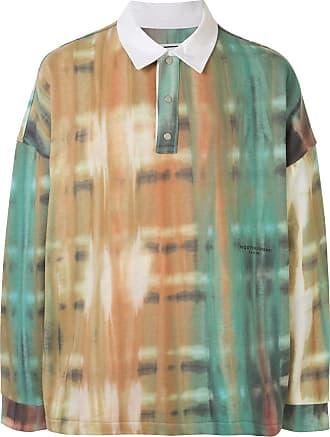 Wooyoungmi Camisa polo tie-dye com estampa - Estampado