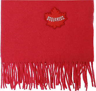 Dsquared2 Wool Scarf With Logo Womens Red
