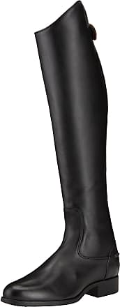 Ariat Womens Heritage Contour Dress Zip Tall Riding Boots in Black Leather, B Medium Width, Short Height, Regular Calf, Size 4.5, by Ariat