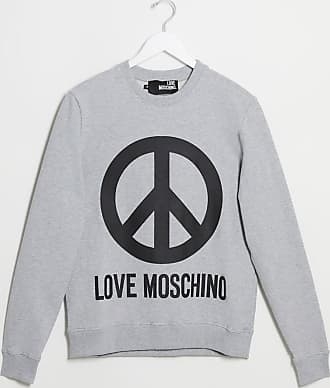 Love Moschino logo crew neck sweat-Grey