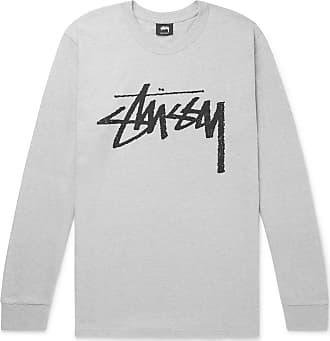 0f42fd56 Stüssy Stock Logo-print Cotton-blend Jersey T-shirt - Gray
