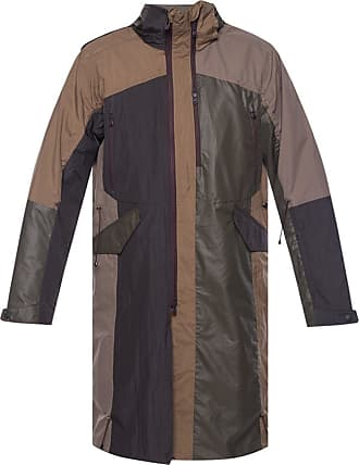 White Mountaineering Coat With Detachable Hood Mens Brown