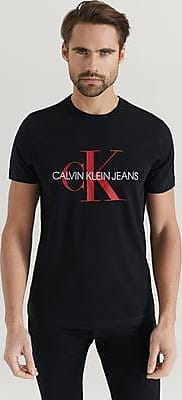 Calvin Klein T-shirt Monogram Logo Slim Tee Svart