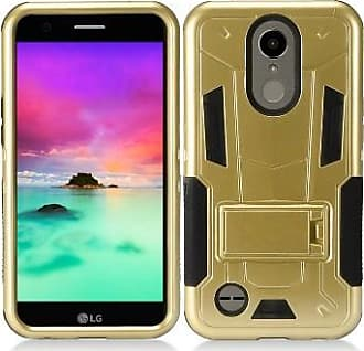 Mundaze Gold Contempo Tech Stand Case For LG K20 Plus / Harmony Phone