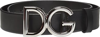 Dolce & Gabbana Logo Buckle Belt Mens Black