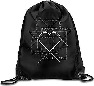 Unisex Drawstring Bags I LOVE SOFTBALL HEART Team Training Travel Sack Daypack