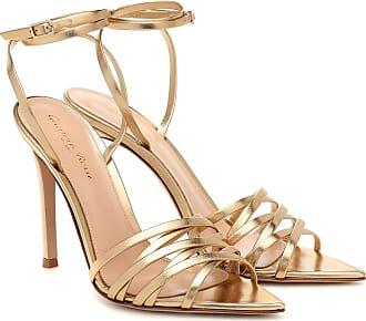 Gianvito Rossi Lita 105 metallic leather sandals