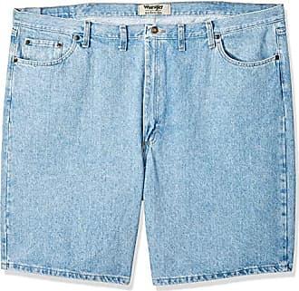 Wrangler Authentics Mens Big & Tall Classic Relaxed Fit Five Pocket Jean Short, Light Stonewash 48