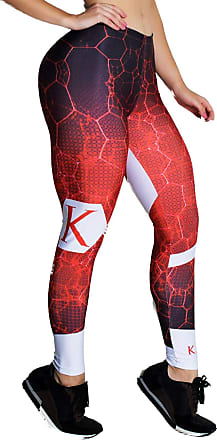 Kaisan Calça Kaisan Sublimada 3D Preto e Vermelho Vermelho