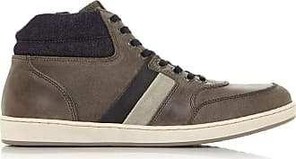 Dune London Dune Mens Vouch High Top Trainers Size UK 6 Grey Flat Heel Trainers