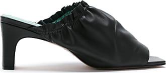 Blue Bird Shoes Mule Berbere de couro - Preto