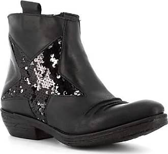 Generico Generic Made in Italy Camperos in Leather with Stars - Black Black Size: 6 UK