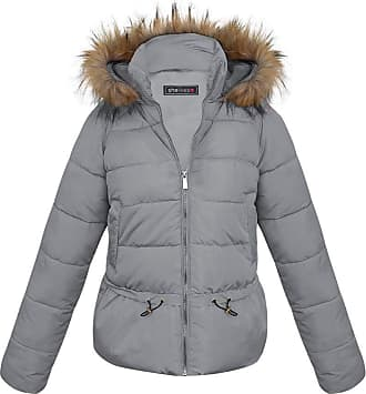 Shelikes Womens Quilted Winter Padded Coat UK 8-16 (8, Grey(7079))