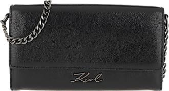 Karl Lagerfeld Cross Body Bags - Signature Met Wallet Chain Black - black - Cross Body Bags for ladies