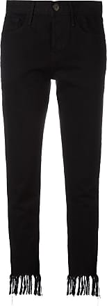 3x1 frayed cropped jeans - Black