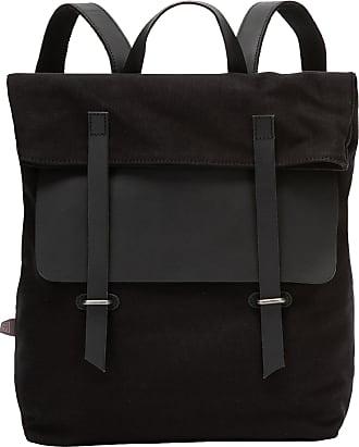 DuDu Grand sac à dos en toile et cuir pour ordinateur portable avec fermeture magnétique et bretelles réglables Noir