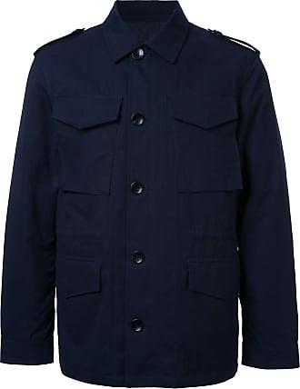 Kent & Curwen detachable quilt lined military jacket - Blue