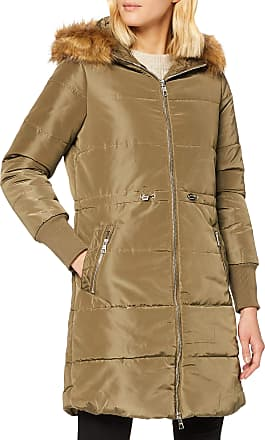 Tom Tailor Denim Womens Padded Coat with Hood, Green (Light Military Green 7322), 36 (Size: Small)