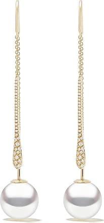Yoko London 18kt yellow gold Novus South Sea pearl and diamond earrings - 6