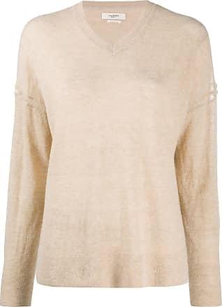 Isabel Marant fine-knit slit hem jumper - NEUTRALS