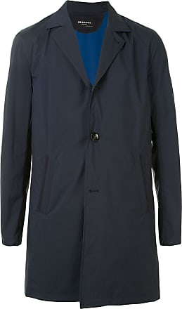 Kiton single-breasted fitted coat - Blue
