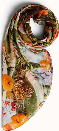 Akris Scarf in modal cashmere with cactus blossom print