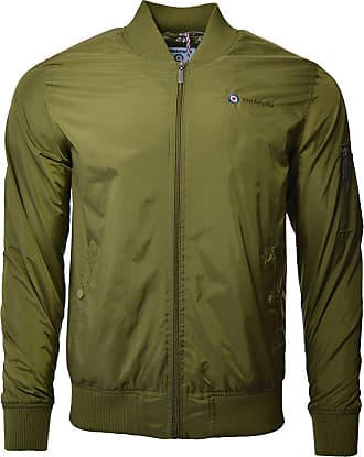 Lambretta Mens Classic Lightweight MA1 Bomber MOD SKA Jacket Coat Olive New