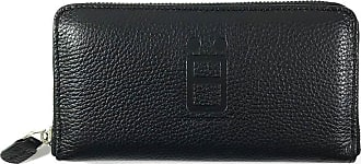 Comembreisd Black leather woman wallet designed and handmade in Italy