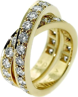 Cartier Nouvelle Vague Diamond Bypass Gold Ring