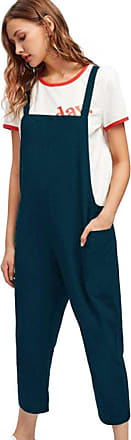 JERFER Women Sleeveless Dungarees Loose Cotton Long Playsuit Jumpsuit Pants Trousers Fashion Causal Playsuit Sexy Rompers