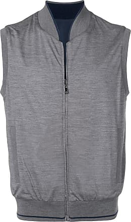 Corneliani zipped gilet - Cinza