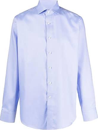 Canali Camisa com colarinho - Azul