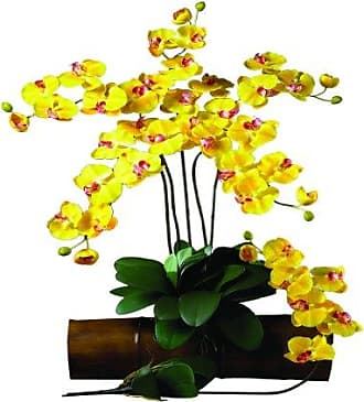 Nearly Natural 2044-GD-12 Phalaenopsis Stem (Set of 12) Gold
