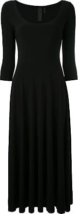 Norma Kamali scoop neck midi dress - Preto