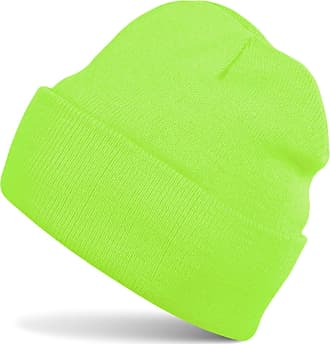styleBREAKER Classic Beanie Knit hat, Warm fine Knit hat, Unisex 04024029, Color:Neon Green
