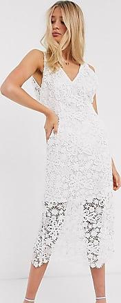 Y.A.S. Tall Wedding - Midikleid aus Spitze in Weiß