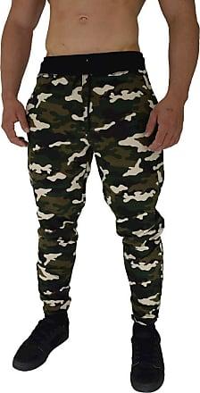 MXD Conceito Calça Masculina Moletom Slim Camuflado Exercito Verde (GG)