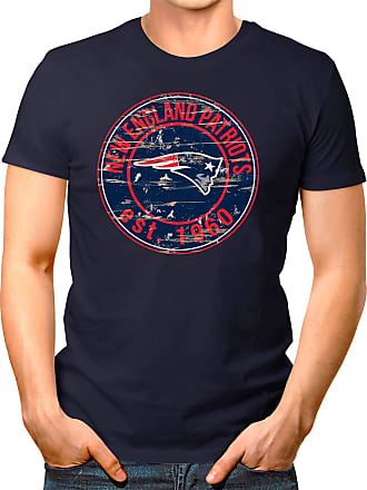 OM3 New-England-Badge - T-Shirt | Mens | American Football Shirt | L, Navy