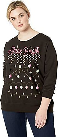JUST MY SIZE Womens Plus Size Ugly Christmas Sweatshirt