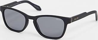 Quay Hardwire Mini square glasses in black