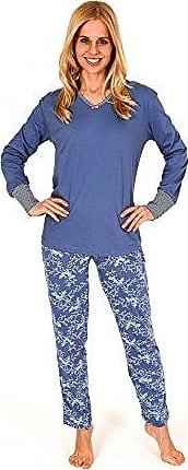 Damen Pyjama Schlafanzug Knopfleiste Langarm Tupfen Ringel Übergrößen 57995