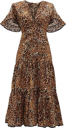 Johanna Ortiz Leopard-print Cotton-blend Midi Dress - Womens - Leopard