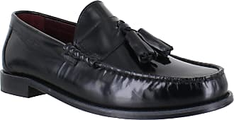 Ikon Original Mens Hove Tassel Loafer Mod Shoe Black 10 UK/44 EU