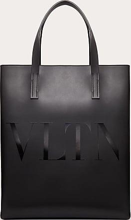 Valentino Garavani Valentino Garavani Uomo Borsa Shopping Vltn In Pelle Uomo Nero Bovine Leather 100% OneSize