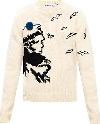 Lanvin Wool Sweater Mens Cream
