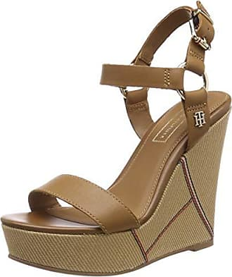 9ad75870282 Tommy Hilfiger Elevated Leather Wedge Sandal