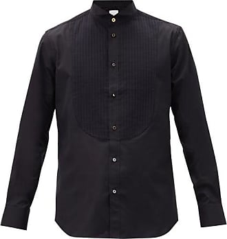 Paul Smith Knife-pleated Plastron Cotton-poplin Tuxedo Shirt - Mens - Black