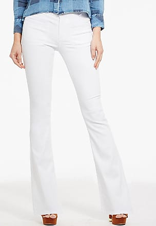 Alloy Apparel Hailey Retro Flare Plus Size Jeans for Tall Women White 21/32 - Cotton/Spandex